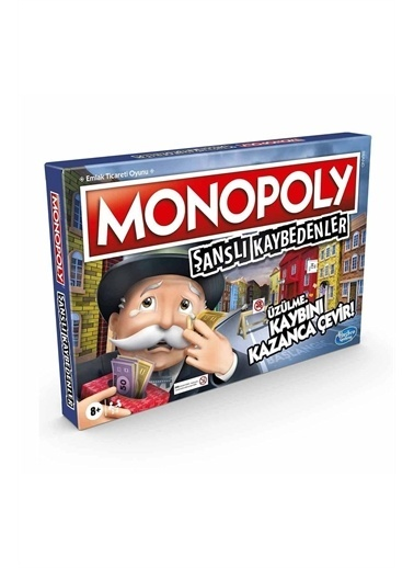 Hasbro Hasbro E9972 Monopoly Şanslı Kaybedenler Kutu Oyunu Renkli